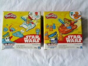 Play Doh Can Heads Luke Skywalker And R2D2 Snowtrooper Lot Of 2