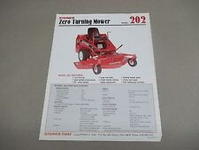 Steiner Single Sales Sheet for 202 Zero Turn Mower  plus specifications
