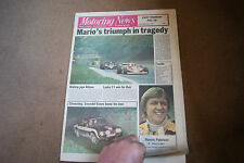 Motoring News 14 September 1978 Italian GP Ronnie Peterson Cilwendeg Rally