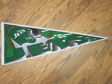 """NEW YORK JETS PENNANT 12"""" X 30"""" INCH *SHIPPED FLAT"""