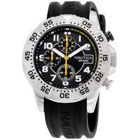 Nautica NSR 104 Black Dial Silicone Strap Men's Watch NAD16510G
