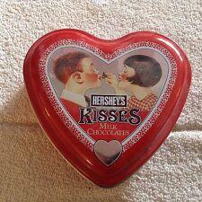 Hershey kiss 2001 heart shape small collector tin