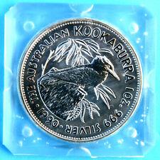1oz Kookaburra 1990 - 2020 in 999/1000 Silber Australien + Privy Mark + Zubehör