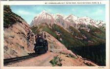 YOHO NATIONAL PARK, BC Canada   STEAM RAILROAD TRAIN    c1940s    Postcard