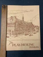 Vintage The Playhouse Restaurant Durban South Africa Menu
