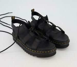 Doc Martens Women's Nartilla Sandals Black Hydro Black Leather Platform