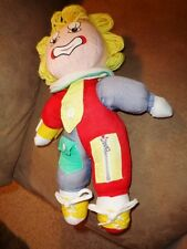 Clown S N Y vintage learn to dress Zip Snap Buckle Button Tie cloth Doll Yellow