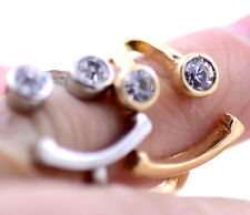Gold / silver tone crystal eye smiley face / heart ring, multiple choices