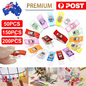 50-200Pcs Wonder Clips Quilting Clamps Craft Knitting Fabric Crochet Pins