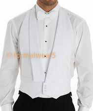 MEN'S WHITE TIE MARCELLA DRESS BACKLESS EVENING WAISTCOAT VEST