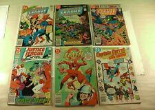 Lot of 6 DC Comics JLA, Flash, & Captain Carrot DEC 1978 - 1991 (FN)