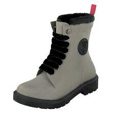 Gosch Shoes Sylt Damen Schuhe Gummistiefel Schnürboot 71051301B Beige Wasserfest