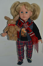 Original Gotz 18� Doll Marie 624 with Jointed Rabbit