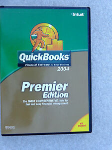 Intuit QuickBooks Premier 2004 For Windows  (New ! Sealed retail DVD case)