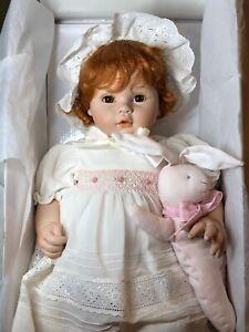 "19"" Porcelain Dolls By Pauline ""Sarah Jane"" Redhead Baby Doll Limited W/ Box"
