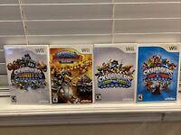 Wii Skylanders 4 Lot games, Giants, Swap Force, Super Chargers, Trap Team