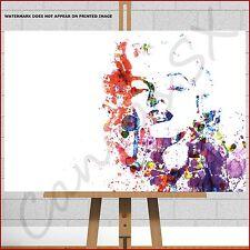 More details for marilyn monroe large box canvas print picture watercolour paint splash wall art