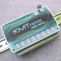 KMTronic LAN IP 8 Canaux Relais Carte Internet Ethernet Module WEB BOX, DIN rail