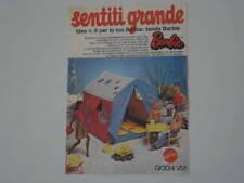 advertising Pubblicità 1974 TENDA BARBIE