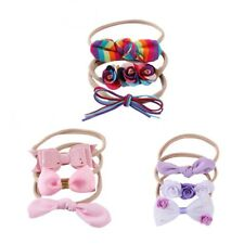 3pcs Kids Girls Baby Headband Toddler Bow Flower Hair Band Accessories Headwear