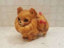 New listing Josef Originals Pekingese Pomeranian dog figurine with red bows - Made in Japan