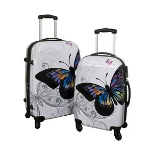 HTI-Living Poly-ABS Kofferset 2-teilig Butterfly