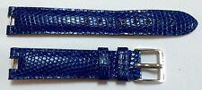 GIANNI BULGARI Lizard Watch Strap Band 15 x 14 mm Blu con Fibbia