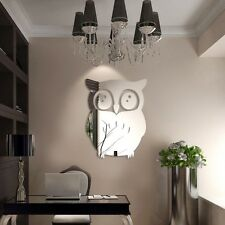 3D Owl  Mirror Vinyl Removable Wall Sticker Decal Home Decor Art