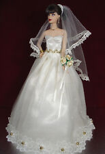 BARBIE DOLL ROBE DE MARIÉE WEDDING GOWN BRIDE # 05696