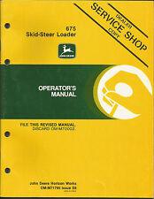 JOHN DEERE 675 SKID-STEER LOADER OPERATORS MANUAL
