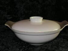 VINTAGE RETRO Poole Pottery Serving Tureen & Lid Twintone Sepia & Mushroom C54
