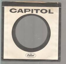 Company Sleeve 45 CAPITOL White w/ Black Out Line & Lettering on