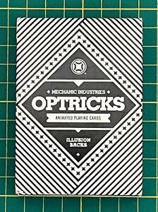 2014 Black Optricks V1 Illusion Backs Playing Cards Mechanic Industries USPCC