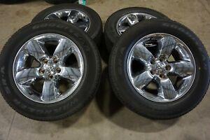 "20"" Dodge Ram 1500 Chrome Factory OEM Wheels Rims Goodyear Tires 2495C"