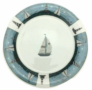 Oneida Casual Settings Sailboat Salad Plate Warren Kimble Stoneware 7 1/4