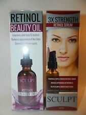 Sculpt Face 3X Triple Strength Retinol Serum & Beauty Oil SEALED NEW Lot x 2