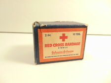 vintage Red Cross Bandage box (with content) / Johnson & Johnson