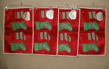 NWT Martha Stewart Set of 4 Place mat Holiday Christmas Stocking Design FREE SHP