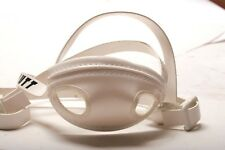 Schutt Adult Soft Cup Leather 4-Point High Long Hook Chinstrap Varsity White