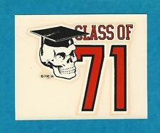 "VINTAGE ORIGINAL 1966 ED ROTH ""CLASS OF 71"" ROBERT WILLIAMS WATER DECAL ART"