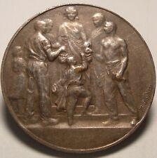 Antique France Bank Medal Caisse d'Epargne du Havre Silvered bronze