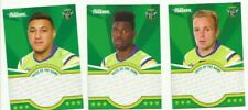 2016 NRL TRADERS FACES OF THE GAME CANBERRA RAIDERS 3 card TEAM SET FOTG