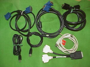 Mixed Computer- Lot DVI To DVI Video Link Cables/Monitor Splitter/USB to Printer