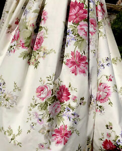 Cottage Chic Roses Bouquet 100%Cotton Fabric. Great Quality. BTY