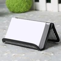 Business Office Card Holder Steel Mesh Home Desktop Collection Desk HolderBlack&