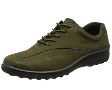 Hotter Tone Womens UK 5 EXF Extra Wide Fit Green Nubuck Lace Up Trainers Shoes