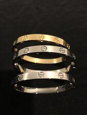Stainless Steel Love Bangle Bracelet Gold/Silver 16 Cm