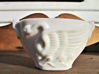 Vintage 1930's Art Deco Macbeth Evans Glass Company Oval Swan Bowl / Dish / Vase