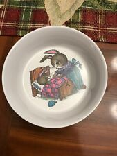New listing Silite plastic childs bowl cup plate mommy bunny baby garden oneida