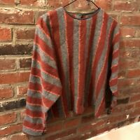 Womens Vintage Wool Striped Sweater US Size S